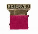Reserved Seat Signs (Gold Plated)