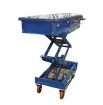Hydraulic Scissors Lift with Roller Ball Platform